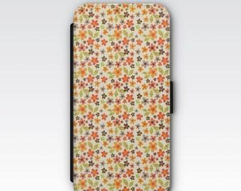 Wallet Case for iPhone 8 Plus, iPhone 8, iPhone 7 Plus, iPhone 7, iPhone 6, iPhone 6s, iPhone 5/5s - Ditsy Floral Print Phone Case