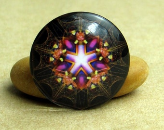 10pcs Colorful Kaleidoscope Handmade Glass Photo Cabochons, 8mm - 30mm, Handcraft Accessories 0045-11