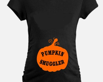 Pumpkin Smuggler Maternity T Shirt