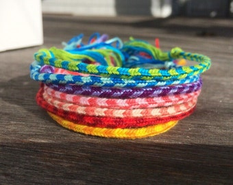 Striped Collection: Thin Woven Friendship Bracelets, Striped Bracelets, Woven Bracelets, Friendship Bracelets, Think Bracelets, Skinny