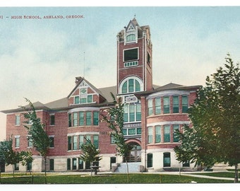 Ashland, Oregon High School Early Divided Back Old Postcard (Unposted)