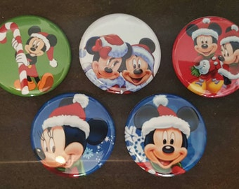 Minnie Mouse and Mickey Mouse pinbacks