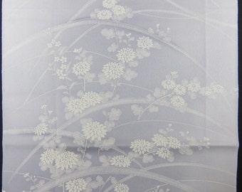 "13.8 ""w. x 14.1 ""l. Vintage kimono silk fabric-chrysanthemum2733F"