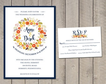 Rustic Fall Wedding Invitation