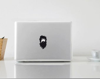 Macbook Sticker Beard