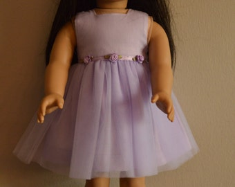 Purple dress and matching head wreath