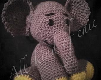 Crocheted stuff elephant