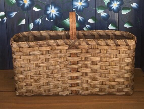 Handmade Market Baskets : Handmade basket long skinny market
