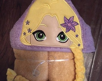Long Haired Princess Hooded Towel