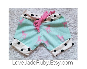 Mint and Pink Fawn Shorties!