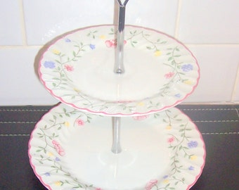 Johnson Brothers Summer Chintz 2 Tier Cake Stand