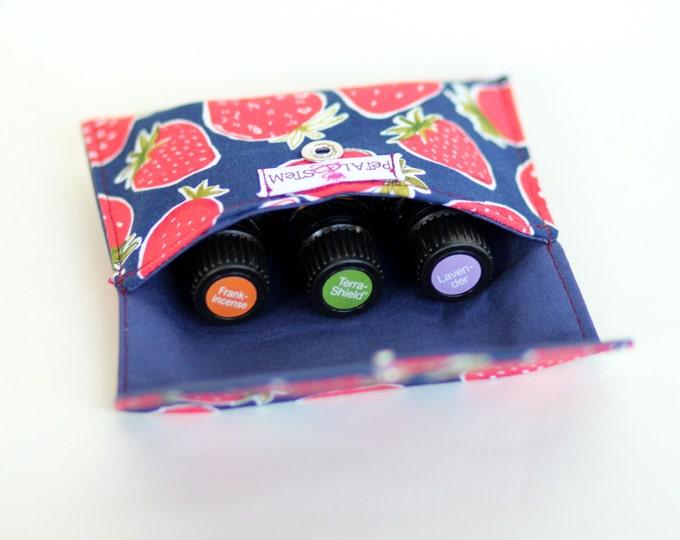 Essential Oil Bag for 3 bottles (15ml) Strawberries