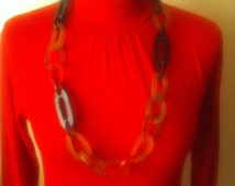 New Stock. Retro Chain Necklace. Vintage Link Chain. 1960s Glam Necklace.