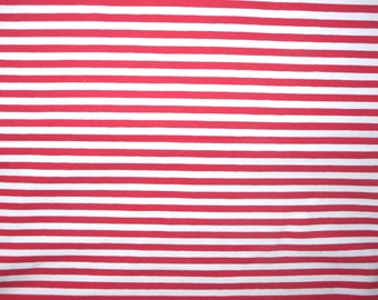 Fabric - jersey fabric - Red engineered stripe knit