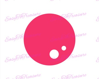 Digital Download Clipart –  Red Gum Ball JPEG and PNG files