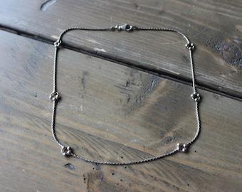 Vintage Sterling Silver One of a Kind Bead Bracelet