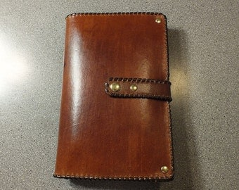 Leather Portfolio, iPad Case, Notebook Cover, Leather Folio Case, Leather Organizer, Nook Case, Notebook Case, Brown Leather Case