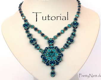 "Beading Pattern - Beading Tutorial for necklace ""Alhambra"""
