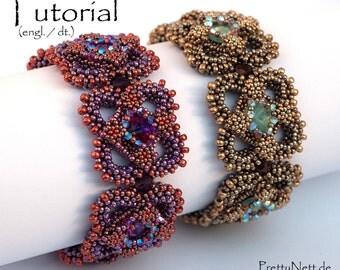 "Beading Pattern - Beading Tutorial for bracelet ""Carré Renaissance"""