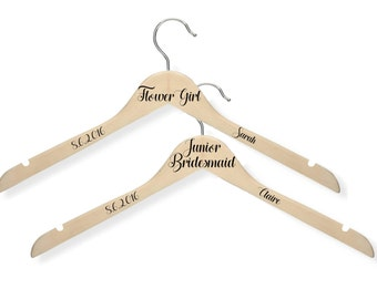 Flower Girl Hanger / Junior Bridesmaid Hanger / Flower Girl Gift / Junior Bridesmaid Gift / Bridal Party Hanger Wedding / Bride Hanger
