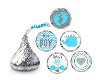 Hershey Kiss Stickers Baby Shower / Elephant Baby Shower/ Hershey Kisses Personalized Labels /  Hershey Kiss Labels /  Hershey Kiss Favor