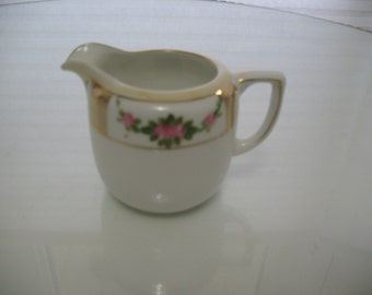 Antique Hand Painted Nippon Cream Pitcher