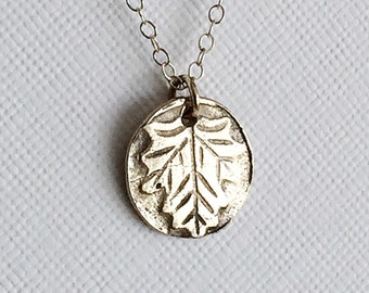 Silver Leaf Necklace, Sterling Leaf Pendant, Sterling Silver Leaf Pendant, Autumn Necklace, Fall Jewelry, Minimalist Necklace, Fall Necklace