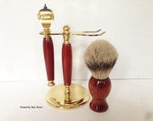 Custom Shaving Set - Silvertip Badger Hair Brush - Fusion Razor