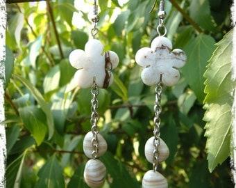 "Earrings ""Ivory flower"""