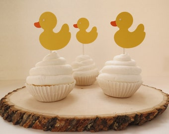 Rubber Duck - Cupcake Topper -Set of 12