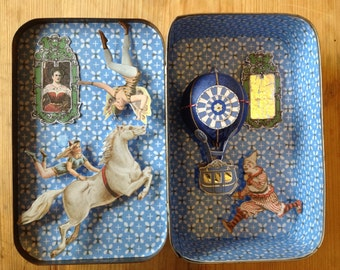 Vintage Tin with Circus Scene