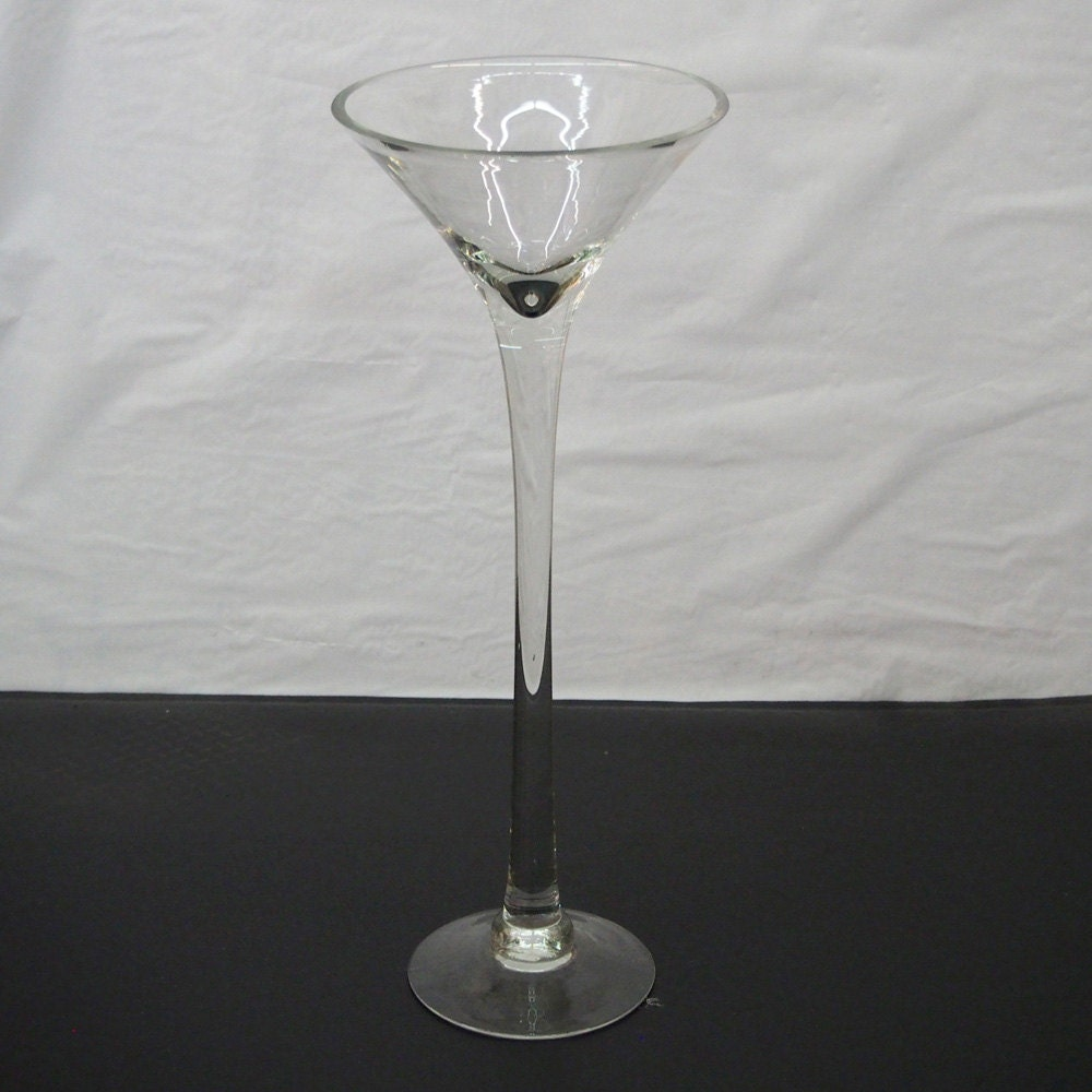 Tall martini glass vases wedding centerpiece by partyspin