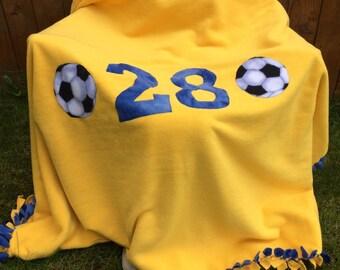 Your Team customized fleece blanket