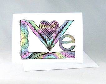 Romantic Card, Love Card, Wedding Card, I Love You Card, Engagement Card, Anniversary Card, Special Couple Card, Special Person Card 1240A