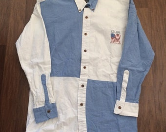 Vintage Chaps Ralph Lauren colorblock shirt