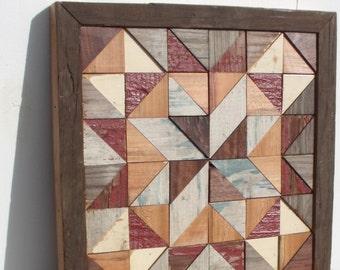 barn quilt block salvaged wood barn quilt by IlluminativeHarvest