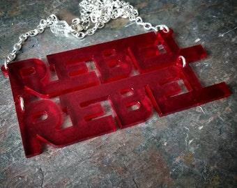 Rebel-Rebel necklace, Bowie/Starwars crossover necklace