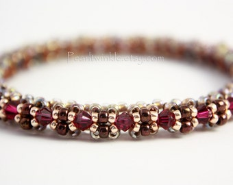 Ruby Red Crystal Bracelet, Valentine, Ruby Crystal bangle, Gift For Her,  Red Bangle, Swarovski Crystal Bracelet, Red Swarovski Bangle, July
