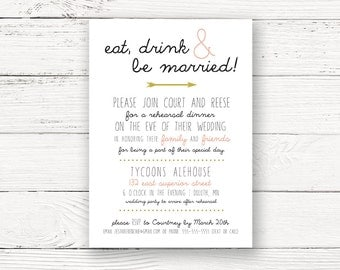 Rustic Chic Printable Rehearsal Dinner Invitation