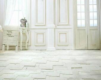 Indoors Photo Backdrop, Wedding white indoors photoshoots background, Windows photography backdrops D-9744