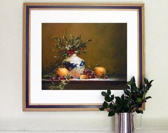 Print still life, Still Life Kitchen Decor, Birthday gift, Still life painting,  Art print, Gift for her, Giclee, Barbara Applegate