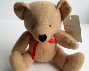 Clearance Cute Vintage 1992 Velour Teddy Bear Toy