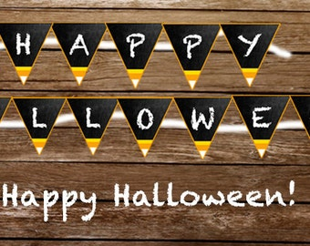 Happy Halloween - Print At Home Halloween Banner