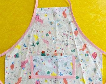 Baby Animal Birthday Party Apron--toddler size