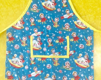 Retro Space Kids 3-5yr Old Apron
