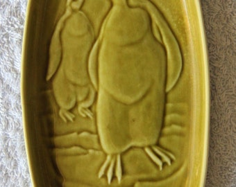 Vintage Poole Pottery Dish with Penguin design by Tony Morris