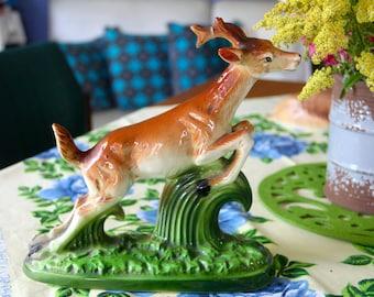 Vintage 1960S Porcelain Deer/Buck/Stag figurine