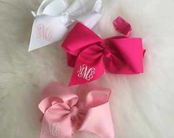 BUY 2 GET 1 Free!!!! - Monogram Baby Headband - Stretchy HeadBand with Bow - Initials - Baby Gift - SALE