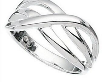Silver Twist Thumb Ring all sizes se below