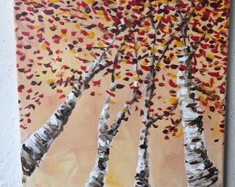 Birch Trees in Orange
